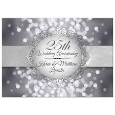 Marriage Anniversary Invitation Card 25th Wedding Anniversary Invites 25th Wedding Anniversary