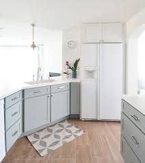 centsational remodel features white u0026 gray kitchen cabinets