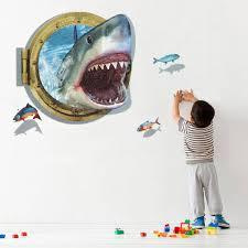 3d 60x90cm diy shark porthole mural decal sea cruise wall art 3d 60x90cm diy shark porthole mural decal sea cruise wall art sticker home nursery decor