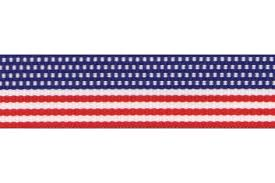 patriotic ribbon 5 yards 3 4 6 8 american patriotic stripes grosgrain ribbon