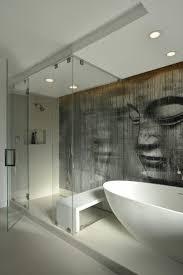 good looking bathroom murals with freestanding tub shower bench