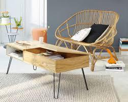 canapé rotin maison du monde table basse vintage bois et métal twist canapé rotin maisons du