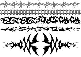 free tribal armband tattoos barbedwirearmband celticknotarmband