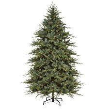 canvas pre lit harrison noble fir tree 7 5 ft canadian tire