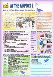 english teaching worksheets at the airport teaching english