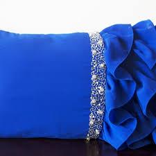Navy Blue Decorative Pillows Royal Blue Decorative Pillows Navy Blue Satin Ruffle Pillow