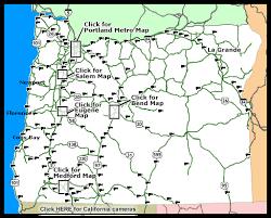 oregon road conditions map oregon map