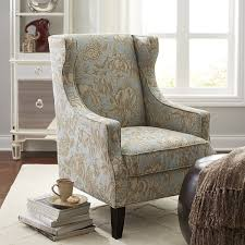 alec blue floral wing chair living room chairs living rooms and