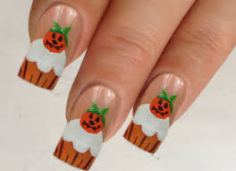 nail art halloween nailrt designs cute pumpkin black cat moon