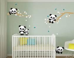 stickers panda chambre bébé panda wall decal etsy