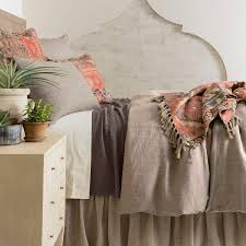 chambray linen sable duvet cover pine cone hill