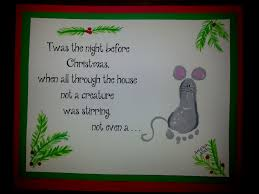 foot print mouse twas the night before christmas toddler time tips