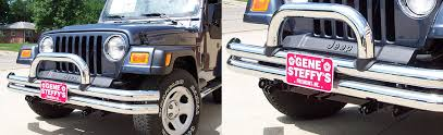 Rugged Ridge Jeep Bumpers Bx1120 Jeep Wrangler With Rugged Ridge Double Tube Bumper Blue Ox
