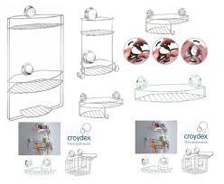 twist n lock plus shower caddy basket suction fix bathroom