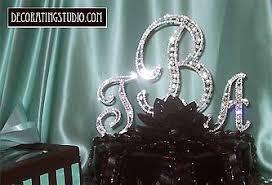 rhinestone monogram cake topper rhinestone cake topper monogram initials numbers