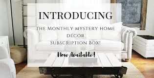 home decor subscription box gable lane monthly mystery home decor box available now my