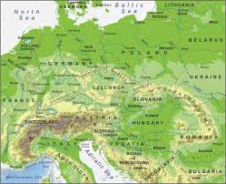 map europ central europe physical map