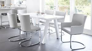 Gloss Dining Tables Modern Zen 6 Seater White Gloss And Oak Dining Table Uk