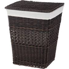 decorative laundry hampers better homes and gardens rectangle wicker hamper walmart com