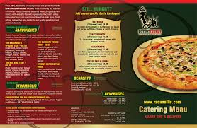 catering menu racanelli s new york style pizzeria