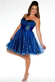 sweetheart mini short royal blue sequined beaded plus size party