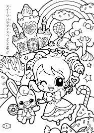 kawaii coloring pages girls coloringstar