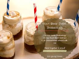 thanksgiving beer recipe root beer float shakeology recipe erin young fitness