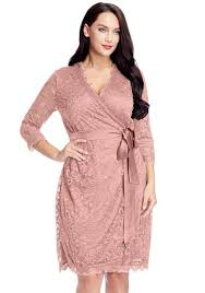 sleeve wrap dress plus size dusty lace crop sleeves wrap dress lookbook store