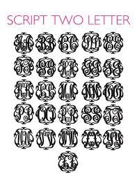 Initial Monogram Fonts Moon And Lola Acrylic Script Monogram Necklace