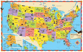 Image Of United States Map by Rand Mcnally Kids Illustrated Wall Map Of The Us Rand Mcnally And