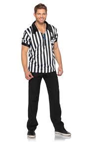 Football Referee Halloween Costume Men U0027s Striped Referee Costume Sports Umpire Men U0027s Costume