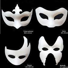 unpainted masks amazing unpainted white paper various masquerade masks for kid