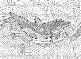 dolphin coloring pages pdf printable adult coloring page dolphin high quality pdf