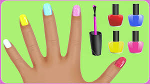 learn colors for kids with surprise nail arts hand nail polish