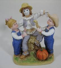 home interiors denim days our scarecrow figurine 1985 1524 ebay
