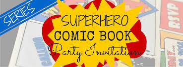 superhero comic book party invitation with free printable