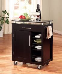 kitchen island rolling movable kitchen islands the rolling organized kitchen island