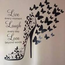 live love laugh butterfly shoe with live love laugh 2 sheets of butterflies