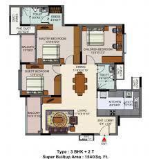 salarpuria sattva senorita floor plans for 2 3 bedroom
