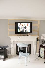 Decorations Tv Over Fireplace Ideas by Best 25 Tv Mantle Ideas On Pinterest Tv Shelf Floating Mantle