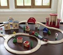 Pottery Barn Kits Wooden Train Set Pottery Barn Kids