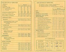 age 9 u2013 1960 61 4th grade report card u2013 stop the storm