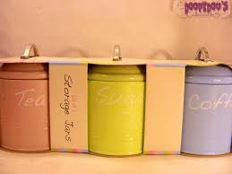 Kitchen Canisters Ceramic Accessories Glamorous Set Modern Retro Ceramic Canisters Kitchen