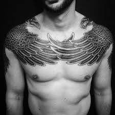 chest and shoulder tattoo 63 latest raven tattoos ideas
