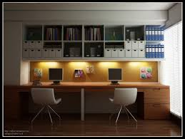 Home Design Furniture Company Modern Home Office Design For Two Persons Come With Natural Solid