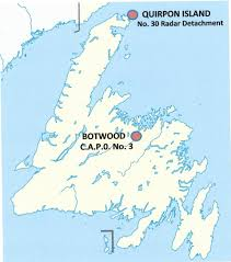 Newfoundland Canada Map by Postal History Corner Wwii Canadian Forces In Newfoundland And