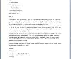 ideas of template letter to bank change of address on sheets