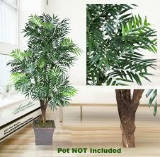 one 6 palm artificial tree with 5 heads with no pot