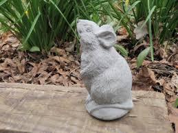 4 cement rat mouse garden concrete statue yard michael
