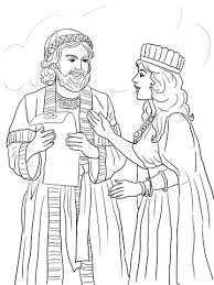 megillat esther online esther and mordecai with king s edict coloring page free printable
